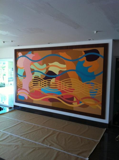 Mural Edifício Empresarial Victória, 2014.
